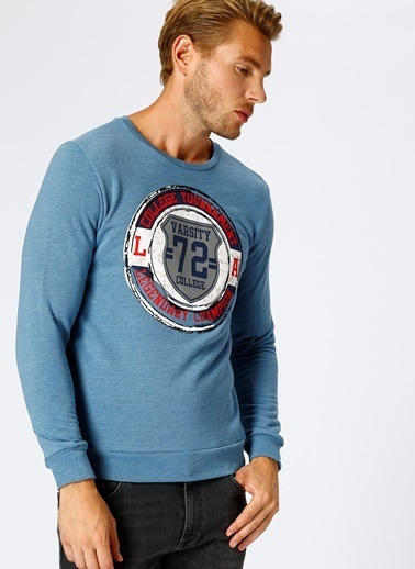 T-Box Sweatshirt Mavi